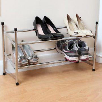 2-Tier Metal Shoe Rack