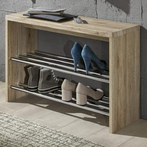 2-Tier OAK Shoe Rack