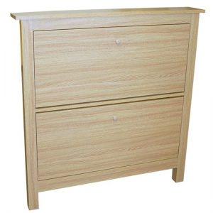 Bertie 8-Pair OAK Shoe Cabinet