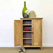 Grimsby-OAK-Shoe-Cabinet-open