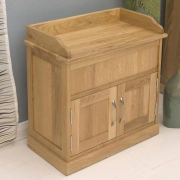 Mobel Oak Wooden Shoe Cabinet