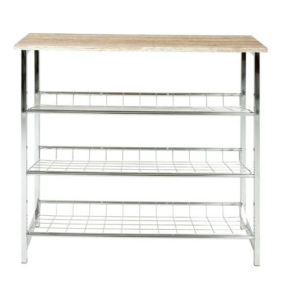 Shoe Rack with 3 Storage Spaces
