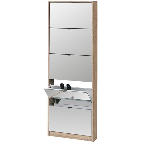 Shoe Tipper with Mirrored Doors