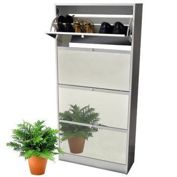 Visage Mirror Shoe Cabinet